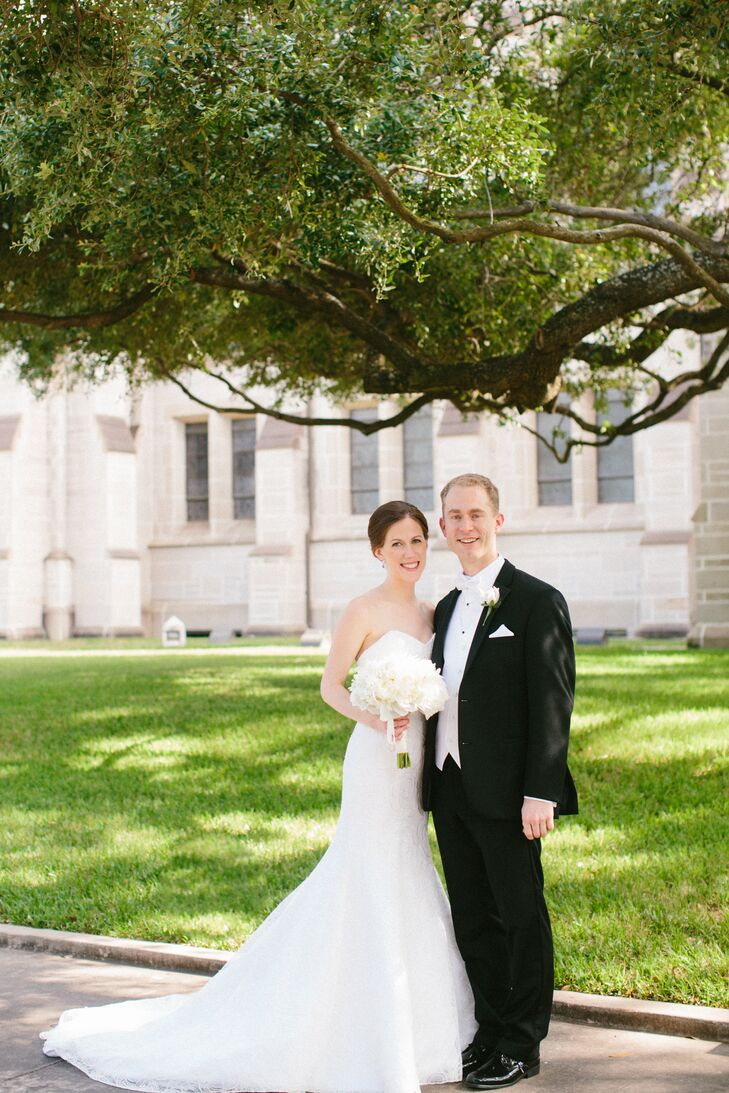 Bride and Groom by St  Paul's United Methodist Church in Houston