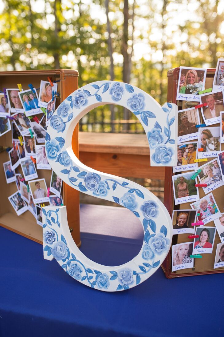 Hand-Painted Floral S Seating Chart Décor