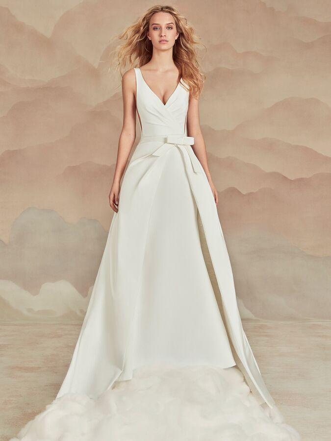 Ines Di Santo sleeveless trumpet dress with overskirt