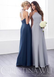 Christina Wu 22827 Halter Bridesmaid Dress