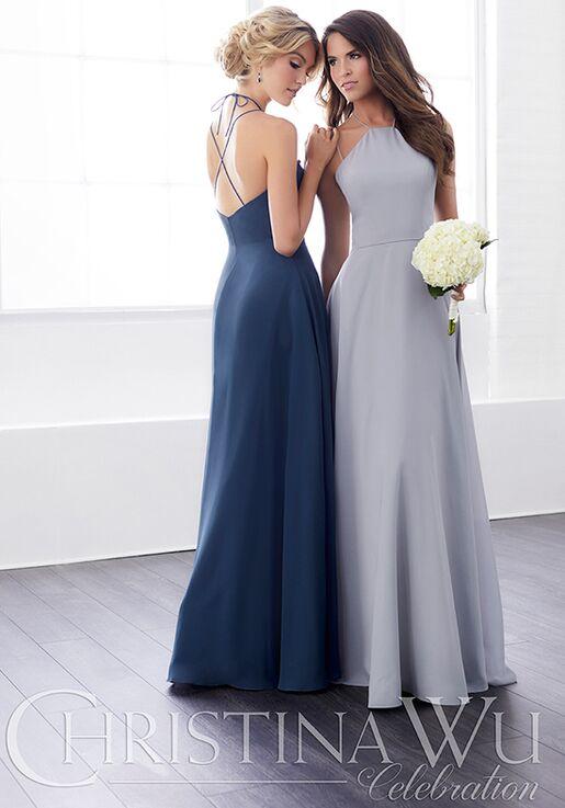 Christina Wu 22827 Halter Bridesmaid Dress