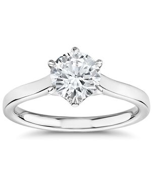 The Gallery Collection Round Cut Engagement Ring