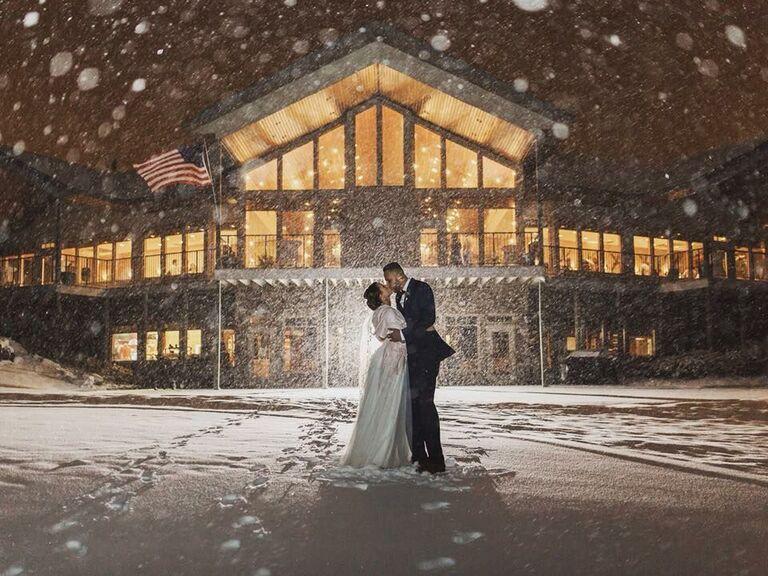 Winter wedding venue in Sartell, Minnesota.