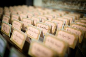 Gilded Mint Escort Cards