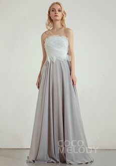 CocoMelody Bridesmaid Dresses CB0243 Strapless Bridesmaid Dress