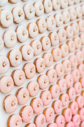 Pink Ombré Doughnut Wall
