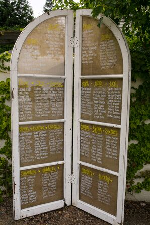 Standing Rustic Seating Chart