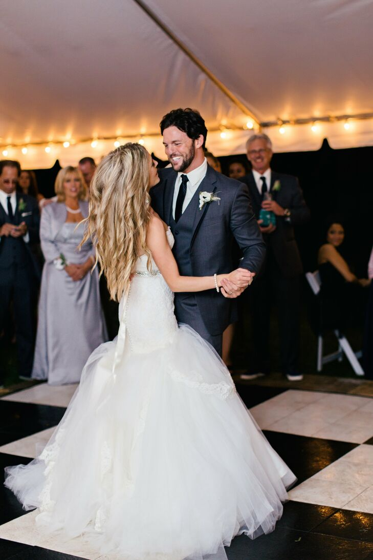 For their first dance, the couple chose the same song that Chris proposed with: You by Chris Young.