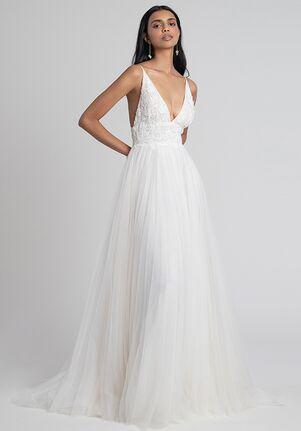 Jenny by Jenny Yoo Shiloh with Applique A-Line Wedding Dress