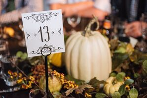 White Pumpkin Reception Centerpiece