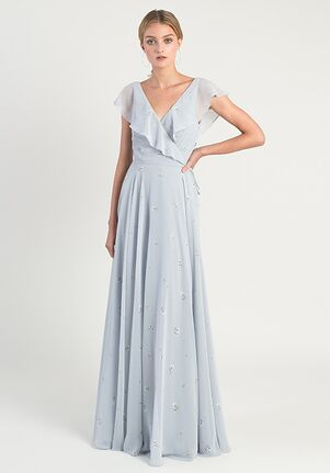 Jenny Yoo Collection (Maids) Faye Ditsy Print V-Neck Bridesmaid Dress