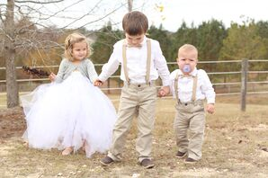 Neutral Ring Bearer and Flower Girl Attire
