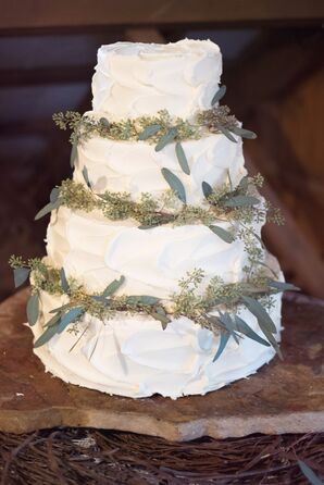 Buttercream Cake with Fresh Greenery