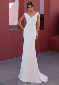 WHITE ONE FLOWER Mermaid Wedding Dress