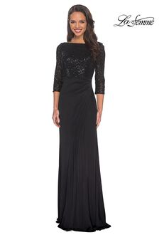 La Femme Evening 24858 Black Mother Of The Bride Dress