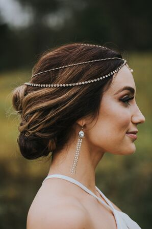 Elegant Diamond Bridal Headpiece