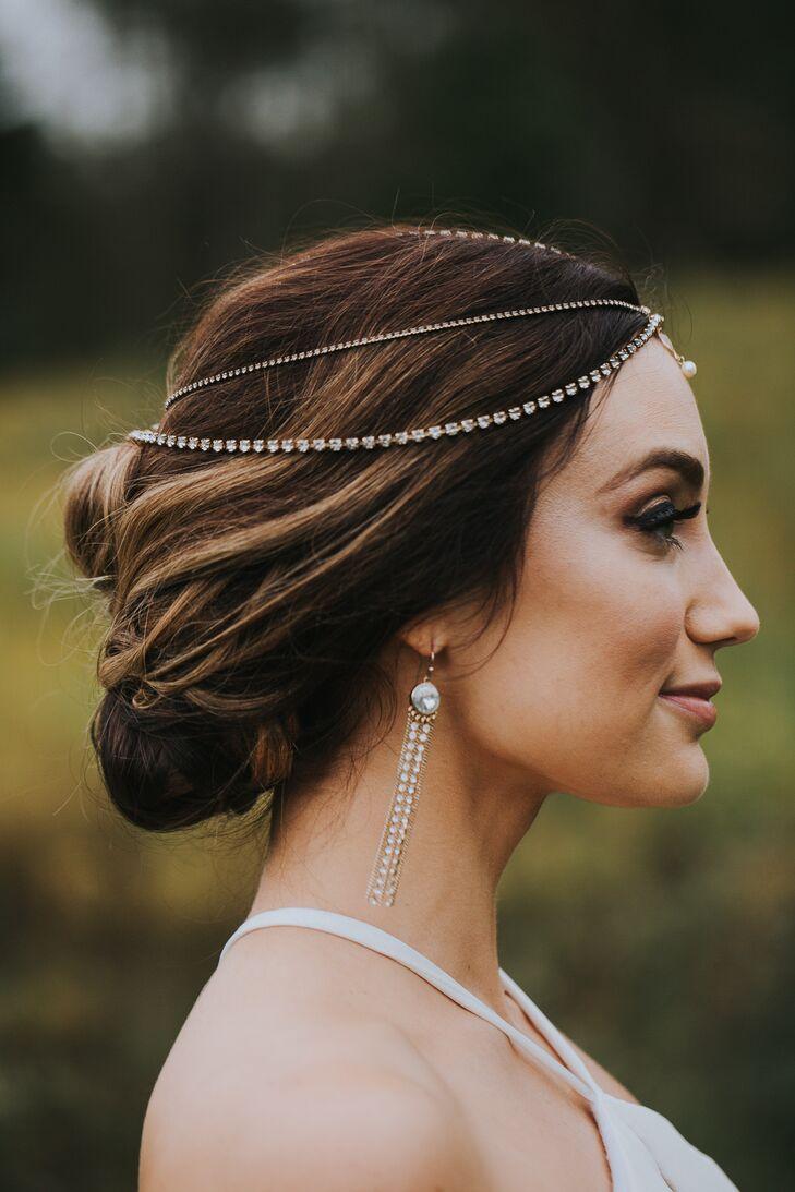 Elegant Diamond Bridal Headpiece