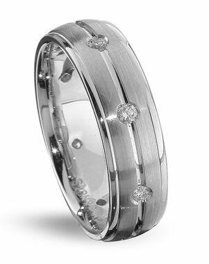 TRUE KNOTS TRUE MAN-DW207 Palladium, Platinum, White Gold Wedding Ring