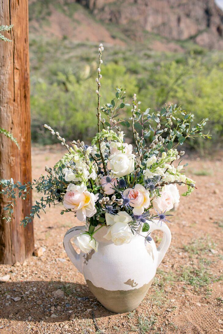 Natural Wildflower Wedding Arch Decor