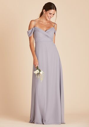 Birdy Grey Spence Convertible Dress in Silver V-Neck Bridesmaid Dress