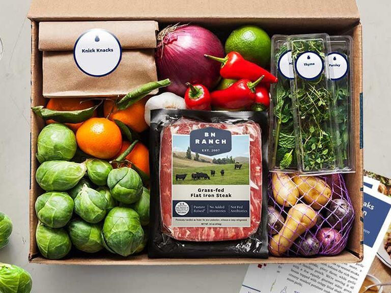 Blue Apron meal subscription gift for wife