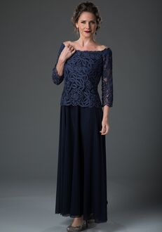 LuxeLace by Soulmates 1604 Blue Mother Of The Bride Dress