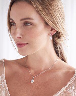 Dareth Colburn Rhea CZ Pendant Jewelry Set (JS-1702) Wedding Necklace photo