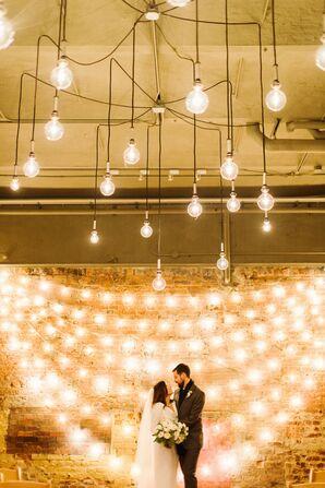 String-Light-Filled Wedding Reception at Zingerman's