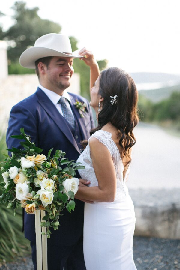 Groom in Cowboy Hat