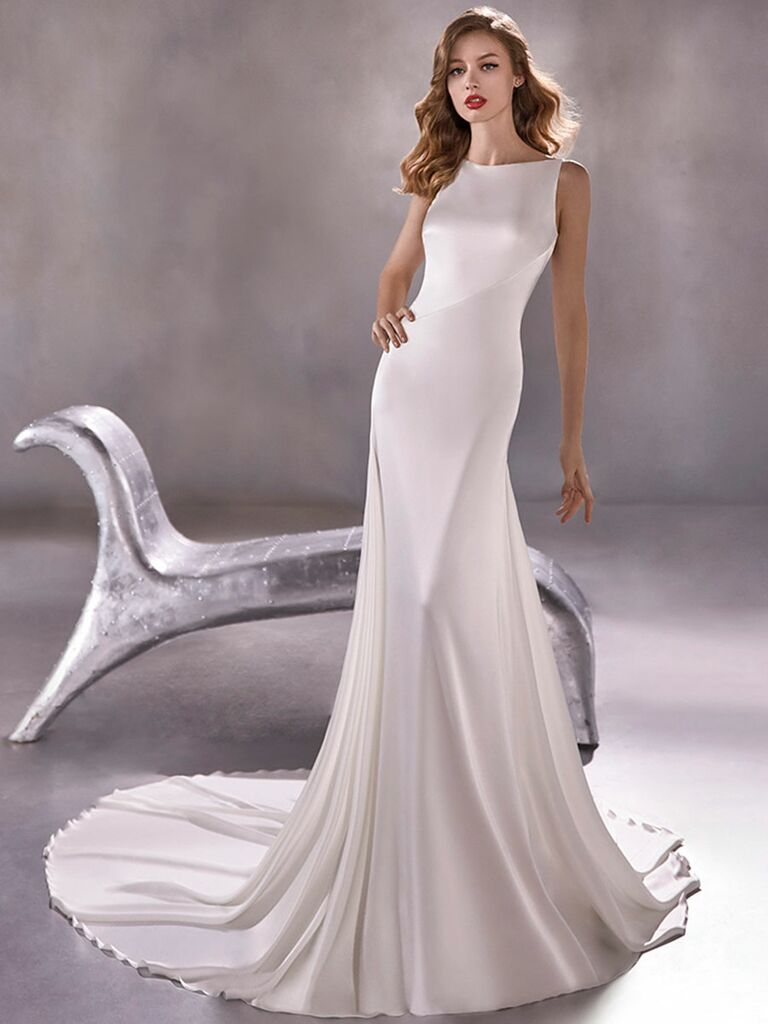 Atelier Provonias wedding dress trumpet gown with low back