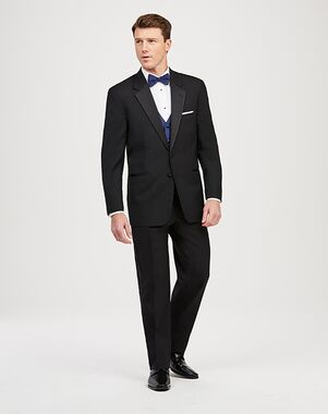Jos. A. Bank Joseph & Feiss Two-Button Notch Lapel Tuxedo Black Tuxedo