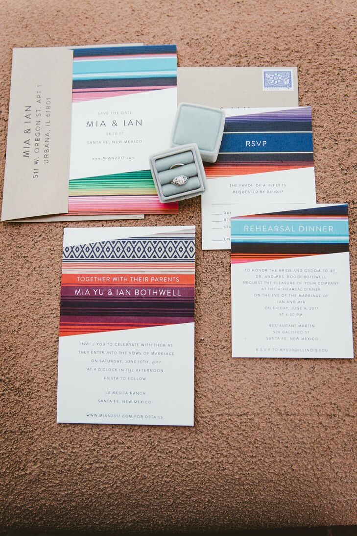 Colorful Southwest-Inspired Wedding Invitations