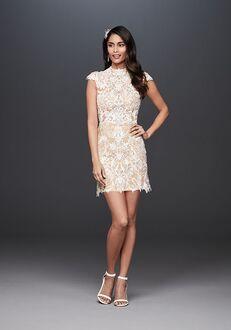 David's Bridal Galina Signature Style SWG828 Sheath Wedding Dress