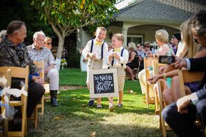 Ring Bearer Attire and Ceremony Sign
