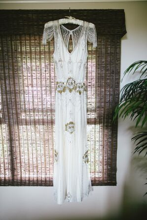 1920s-Inspired Wedding Gown