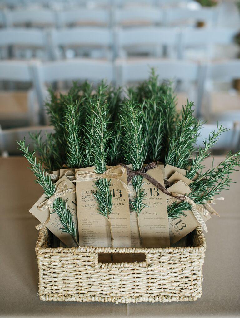 Rosemary ceremony program