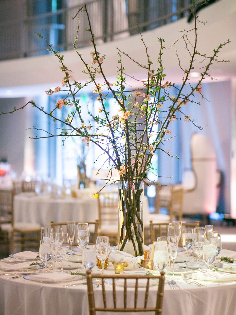 Wedding Centerpieces Tall Branches