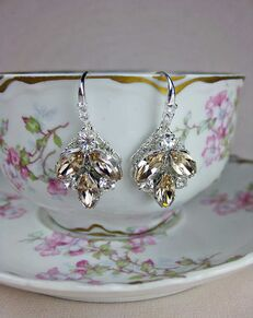 Everything Angelic Taylor Earrings - e306 Lt Silk Wedding Earring photo