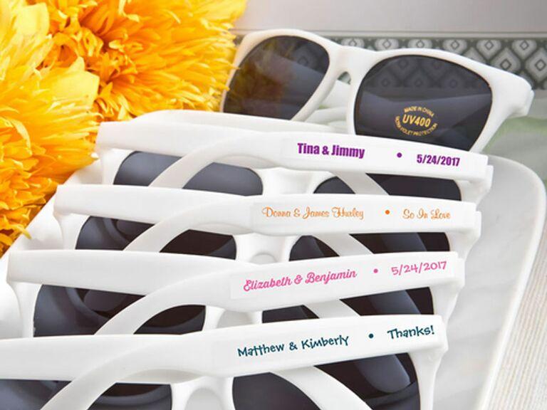 personalized white sunglasses