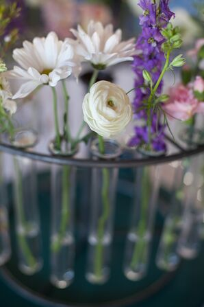 Test Tube Floral Centerpiece