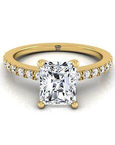 RockHer Classic Radiant Cut Engagement Ring