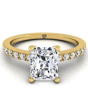 RockHer Classic Radiant Cut Engagement Ring