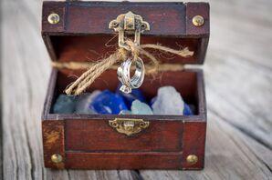 The Wedding Rings in a Nautical Treasure Box