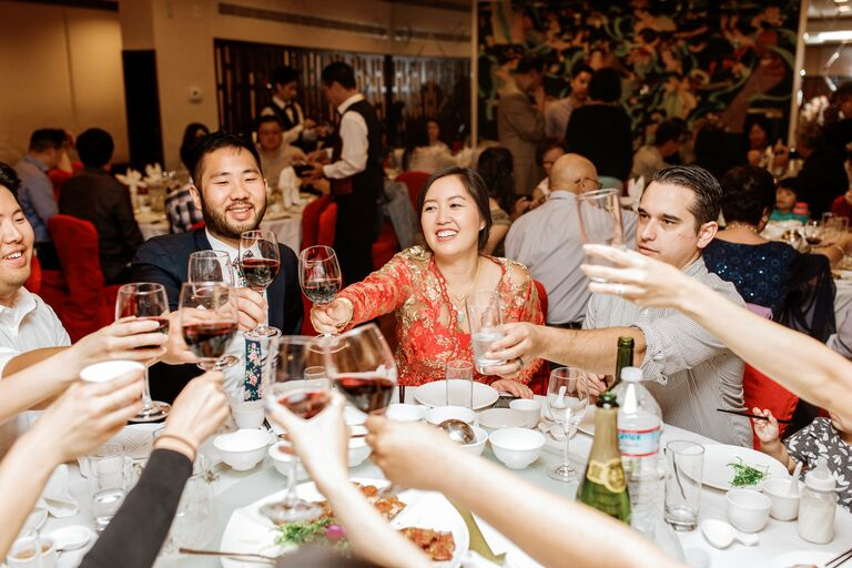Toast during Chinese wedding feast