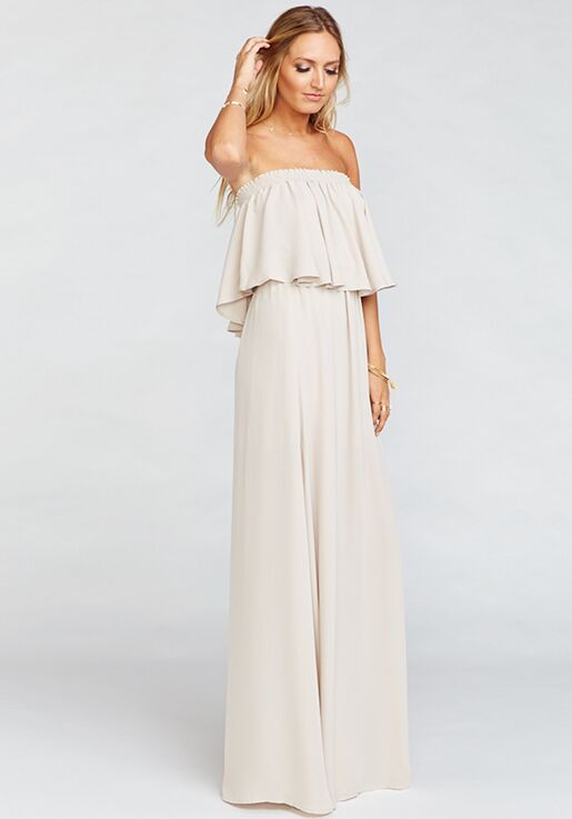 d2100937591 Show Me Your Mumu Hacienda Maxi Dress - Show Me the Ring Crisp Off the  Shoulder