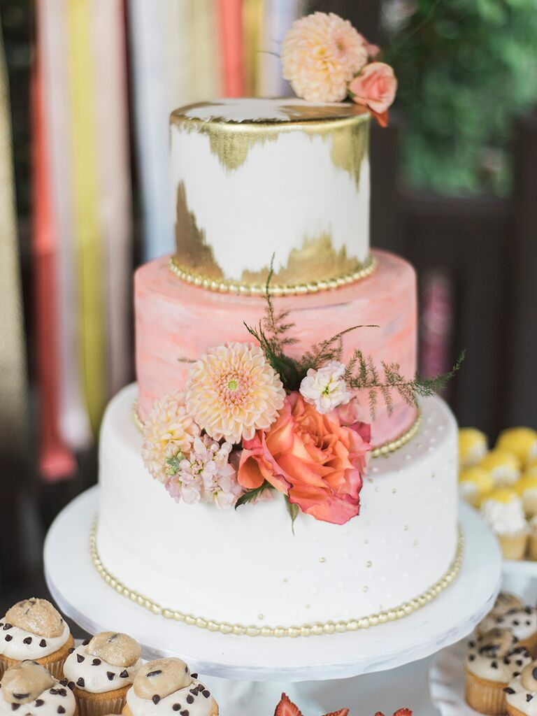 25 gorgeous wedding cakes ideas with fresh flowers wedding cake with real roses and zinnias mightylinksfo