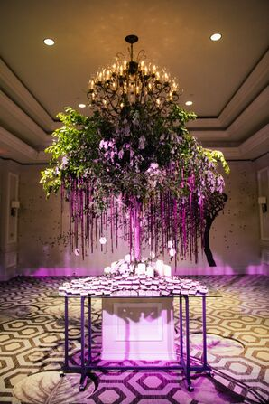 Escort Card Tree with Hanging Tags
