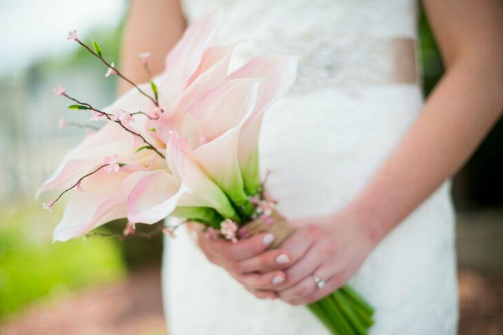 Blush Calla Lily Bridal Bouquet