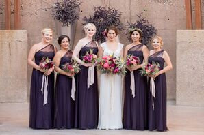 Elegant Plum Bridesmaid Gowns