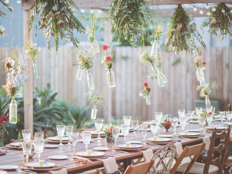 couples outdoor bridal shower